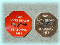 1981 Beach Badge
